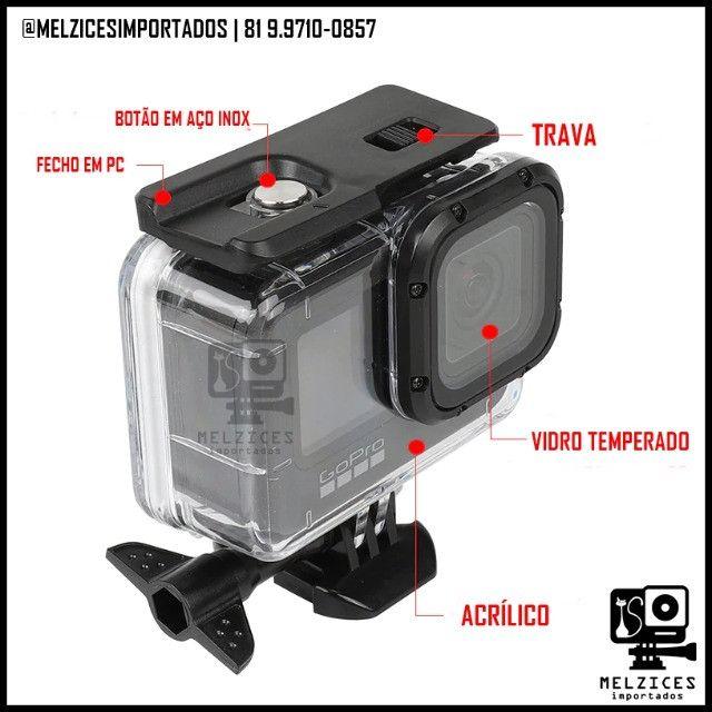 Caixa Estanque Para GoPro Hero 9 Black + Tampa Adicional Touch - Foto 2