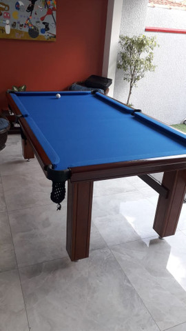 Mesa de Bilhar Diver Slim Maciça Tecido Azul Modelo JJD3054 - Foto 4