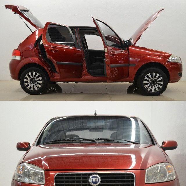 Palio ELX 1.0 - vermelho - ano 2008 - Foto 4