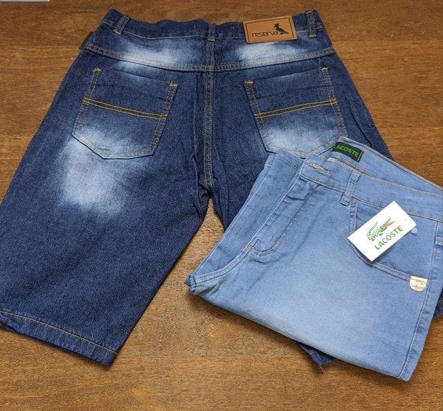 Bermudas jeans Masculinas modelos lisas e destroyed Tamanhos 38 a 42 - Foto 5