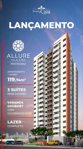 Lançamento!!!! Vila Ema - Allure Vila Ema - 119 M² 3 Dorms. com Suítes - 2 Vagas - Foto 2