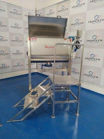 Misturador Industrial de Pós Ribbon Sample Blender - Melhor Custo Benefício do Mercado  - Foto 2