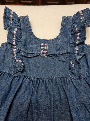 Vestido Jeans - Tamanho 2 - Marca carinhoso - Foto 2