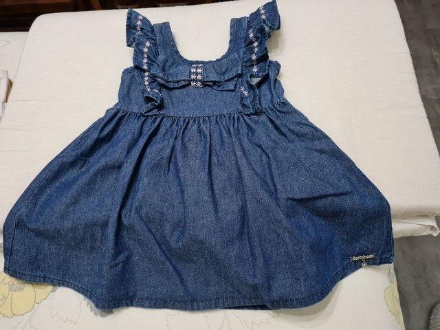 Vestido Jeans - Tamanho 2 - Marca carinhoso - Foto 3