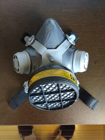 Mascara Facial Respirador C/ Filtro Gases - Foto 2