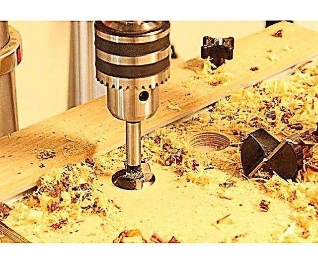 Jogo Fresas Sparta 10-35mm Madeira Dobradiça 5pcs Com Estojo - Foto 5