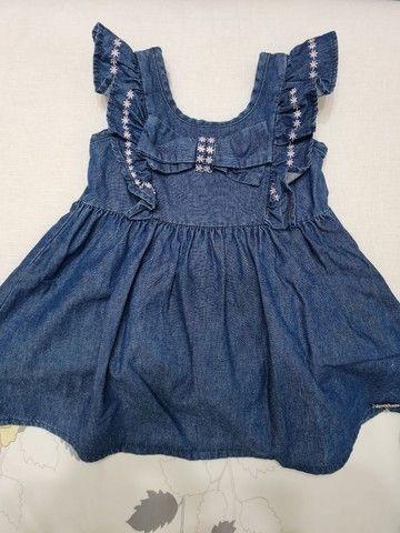 Vestido Jeans - Tamanho 2 - Marca carinhoso