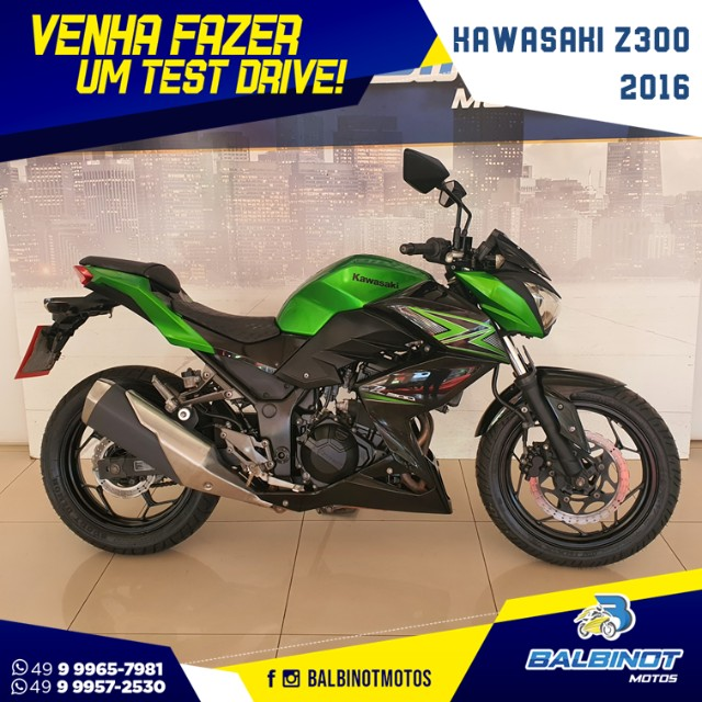 Kawasaki Z300 2016 Verde