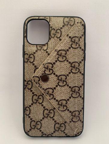 Case / Capinha estilo carteira iPhone 11 Pro Max (Aceito cartão)