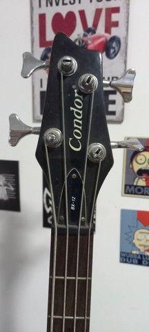 Contrabaixo Condor bx-12 4 cordas e amplificador Sheldon bss 180 - Foto 3