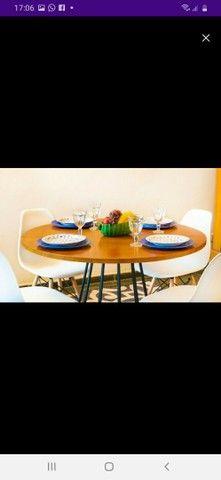Conjunto Mesa estilo Industrial 1,15 + 4 cadeiras Eiffel!! - Foto 3