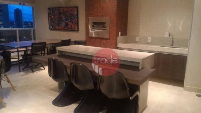 Flat com 1 dormitório para alugar, 44 m² por r$ 1.800,00/mês - bosque das juritis - ribeir - Foto 9