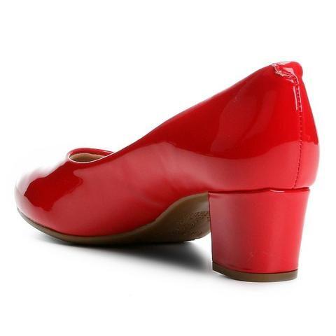 Scarpin Beira Rio Salto Baixo Conforto ? Disponível nas cores vermelho, bege e preto - Foto 4
