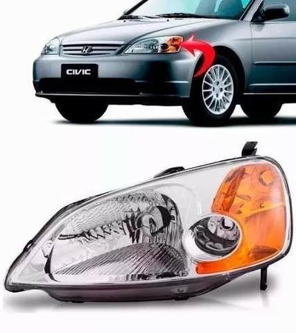 Farol Honda Civic 2001 2002 2003 Esquerdo Seta Ambar