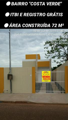 Casa 02 quartos Nova, bairro COSTA VERDE com ITBI e Registro Grátis