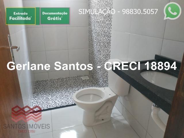 Escritura Grátis Casa 02 Quartos, 2 banheiros, 2 garagens - Foto 9