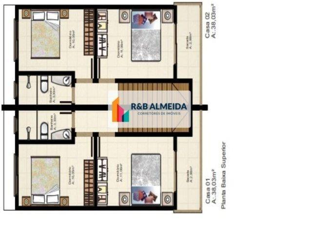 JA-Bonita Casa duplex 2 dormitórios c/76m² de área construida Ingleses - Foto 7
