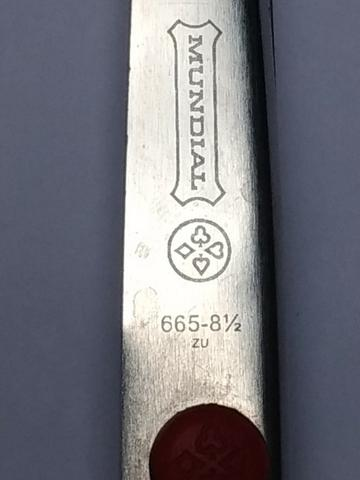 Tesoura de picotar Mundial - 21cm - Semi nova - Foto 2