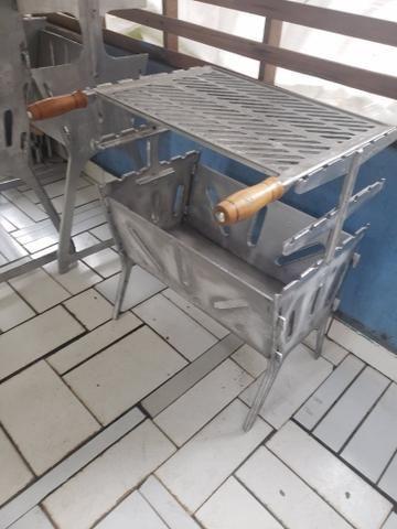 Churrasqueiras grande reforçada de alumínio - Foto 3