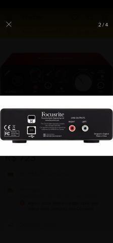 Interface Áudio Scarlett Solo USB (2a Geração) FOCUSRITE