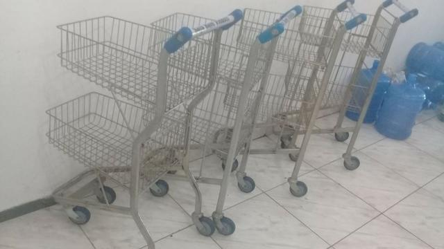 Carrinho supermercado 2 andar