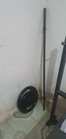 80 kilos de anilha supino reto - Foto 4