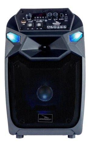 Caixa De Som Bluetooth Com Microfone Recarregável Grasep<br><br>