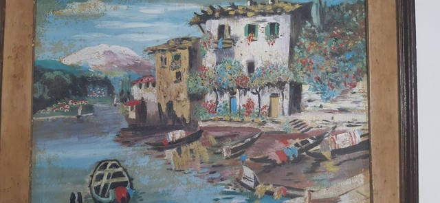 quadro do  pintor Tomaz A.Ribas 1986 - Foto 5