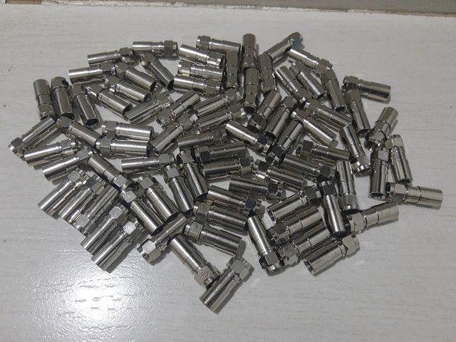 Conector Rg6 De Compressão Pacote Com 100 Unidades