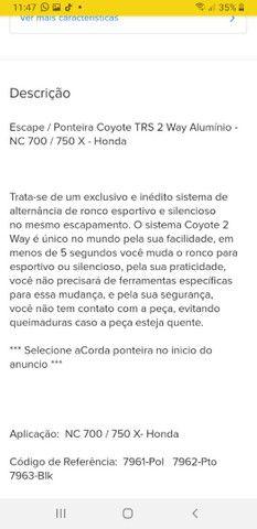 NC 700 surdina com regulagem ronco - Foto 4