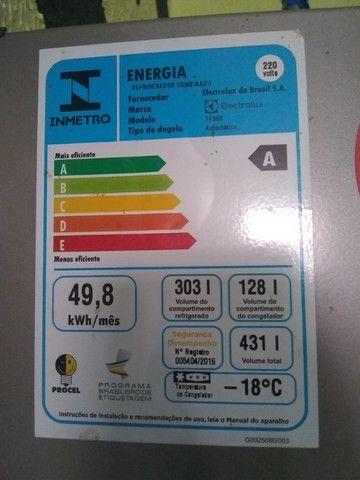 Geladeira inox 431 litros Eletrolux na garantia, valor negociável,aceito cartão - Foto 4