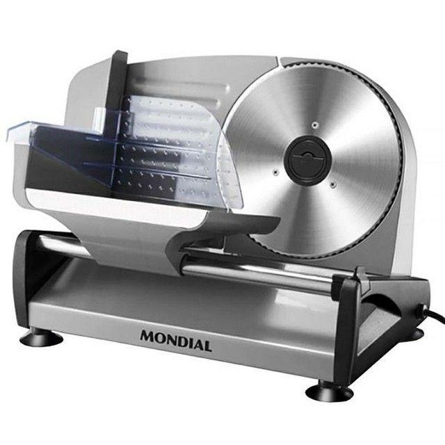 Multifatiador Mondial Mf-01 Com Lâmina Em Aço Inoxidável 220v ~ 50 / 60 Hz - Cinza