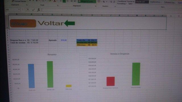 Planilha lanchonete  fluxo de caixa em Excel - Foto 4