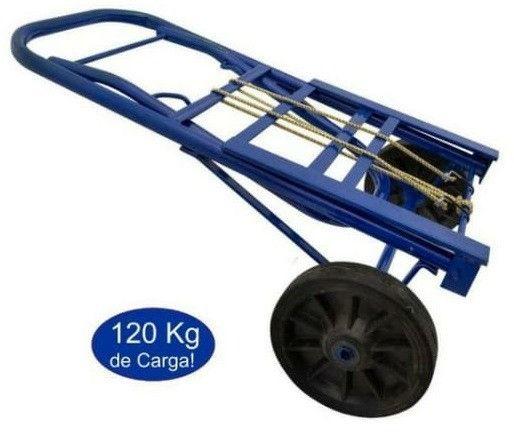 Carrinho de Carga Armazém Dobrável 120kg 1120x350 base 360mm D700 - Foto 2