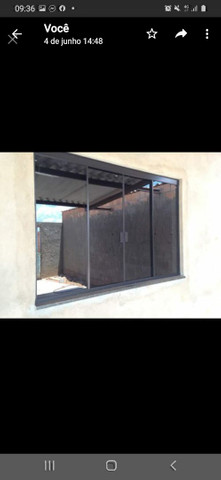 Janela de Blindex fumê 100x120 + kit para instalação  - Foto 2