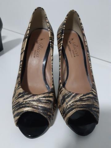 Sapatos n°34 Peep Toe Maravilhosos!!!! - Foto 2