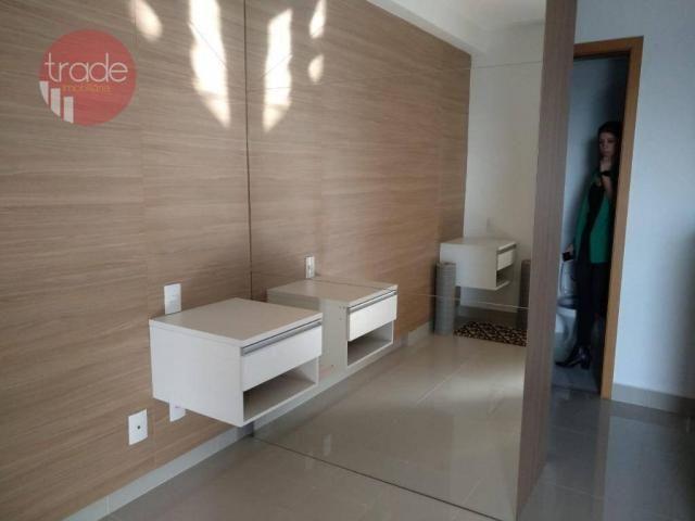 Flat com 1 dormitório para alugar, 44 m² por r$ 1.800,00/mês - bosque das juritis - ribeir - Foto 2