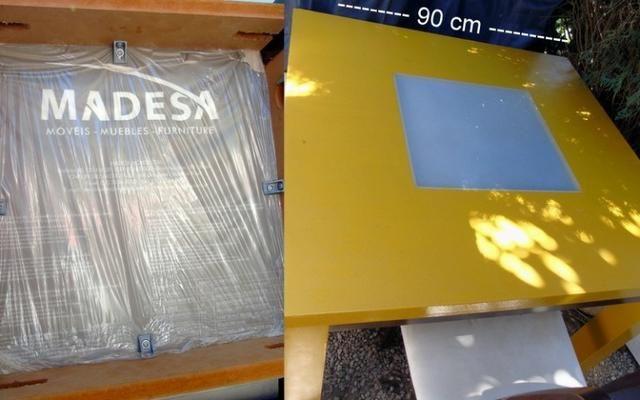 Mesa Madeira e Vidro com 4 cadeiras 90x90 cm - Foto 6