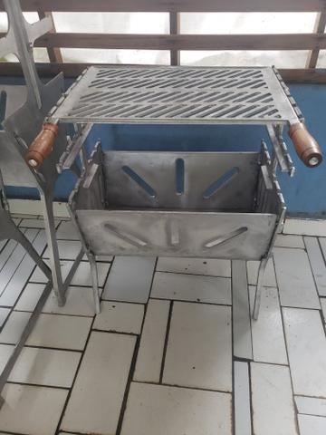Churrasqueiras grande reforçada de alumínio - Foto 2