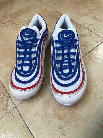 Tênis Nike Air Max 97 azul e branco - Foto 2
