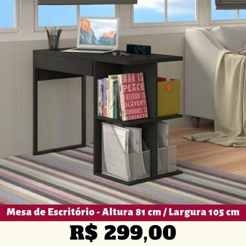 Mesa de Escritório/ Computador (2 Cores Disponíveis) Entrega Grátis - Foto 2