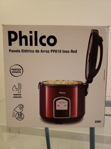 Panela Elétrica Philco PPA10 Inox Vermelha
