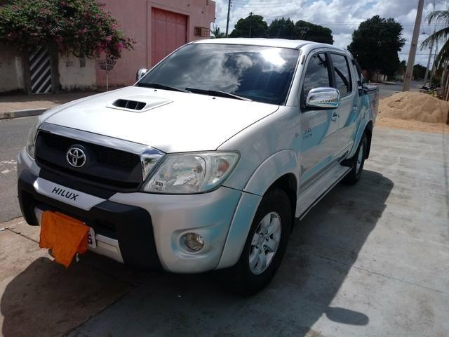 Hilux 2010 4x4 Diesel Srv Dvd Banco de couro - Foto 7