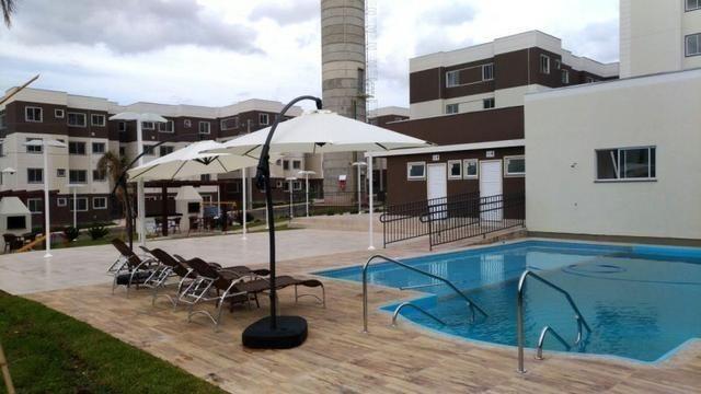 Apartamento Semi-mobiliado - Condomínio Clube Dallas - Campo Largo