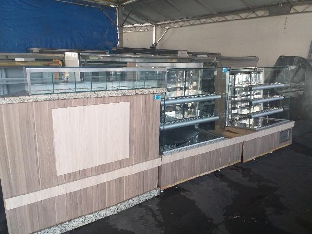 Frente de balcões fabricados para padaria - Foto 2