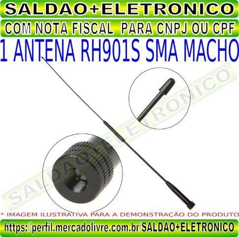 Antena rh901s sma macho adaptador conector sma macho dual band vhf uhf flexivel yaesu - Foto 6