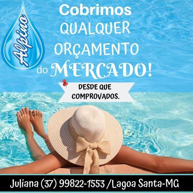 Ju- Promoção Piscina de Fibra 7 M com Praia -Dlucca Lagoa Santa - Foto 3
