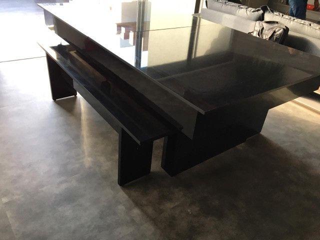 Mesa de Bilhar Sedução Preta Bl Tecido Vermelho Modelo IKH5101 - Foto 6