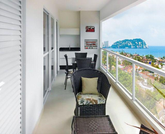 Apartamento Flat no Guarujá, 55m2 , Varanda Gourmet, Mobiliado! - Foto 14