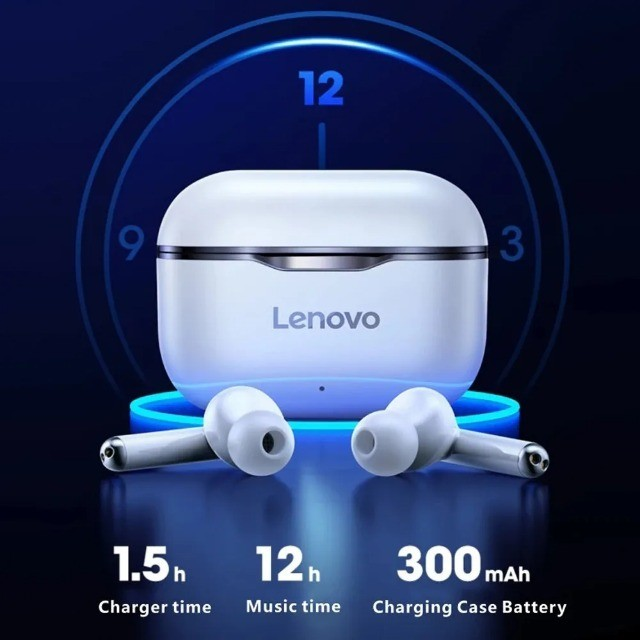 Fone De Ouvido Bluetooth Sem Fio Lenovo Lp1 Livepods Airpods - Foto 4